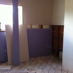 dry walled kitchen