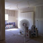 Drying drywall