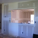 Drywall in kitchen
