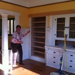 Kasia shows off new shelving unit