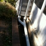 New drainage piping installed