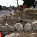 Sewer pipe cap and rocks