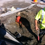 New water main turn off valve