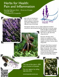 Herbs for Inflammation Class