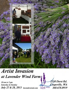 Artists Invasion of Lavender Wind Farm Poster 2013