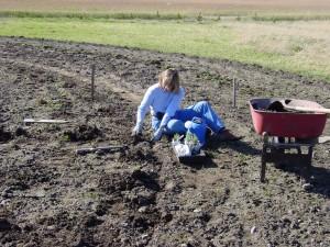 Debora planting labyrinth
